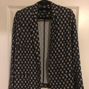 Black and White Unlined Blazer